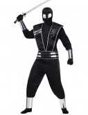 Adult Silver Mirror Ninja Costume, halloween costume (Adult Silver Mirror Ninja Costume)