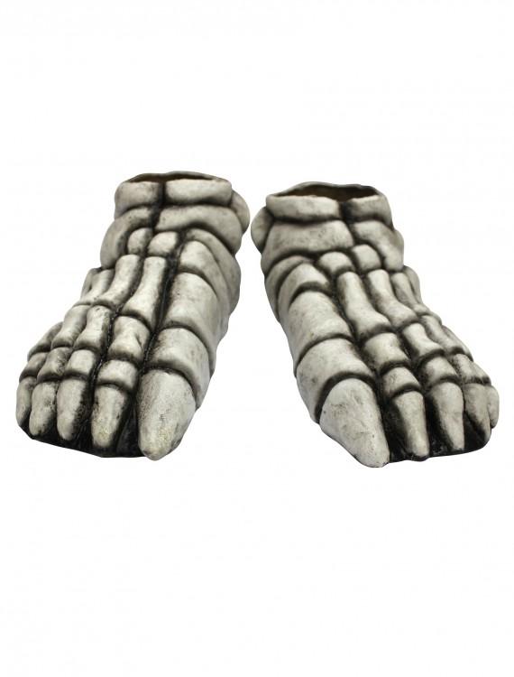 Adult Skeleton Feet White, halloween costume (Adult Skeleton Feet White)