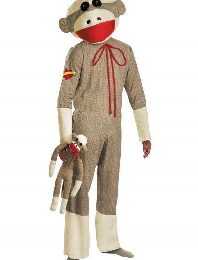 Adult Sock Monkey Costume, halloween costume (Adult Sock Monkey Costume)