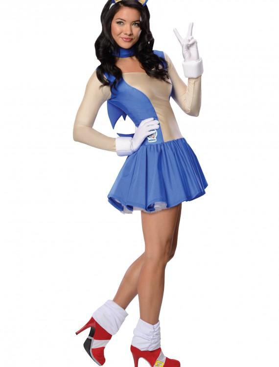Adult Sonic Dress Costume, halloween costume (Adult Sonic Dress Costume)