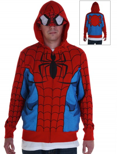 Adult Spiderman Costume Hoodie, halloween costume (Adult Spiderman Costume Hoodie)