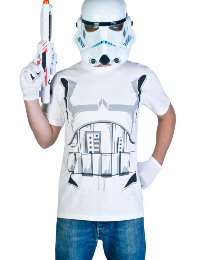 Adult Stormtrooper T-Shirt Costume, halloween costume (Adult Stormtrooper T-Shirt Costume)