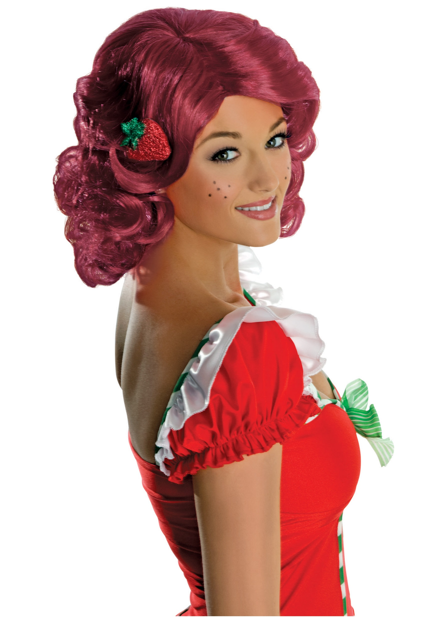adult strawberry shortcake wig