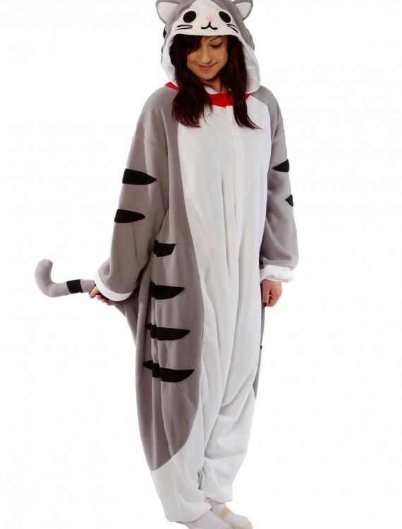 Adult Tabby Cat Pajama Costume, halloween costume (Adult Tabby Cat Pajama Costume)