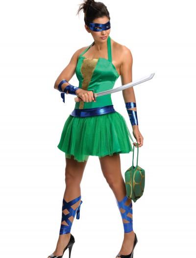 Adult TMNT Leonardo Dress, halloween costume (Adult TMNT Leonardo Dress)