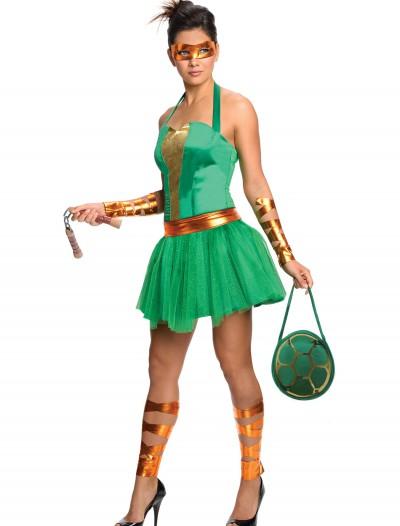 Adult TMNT Michelangelo Dress, halloween costume (Adult TMNT Michelangelo Dress)