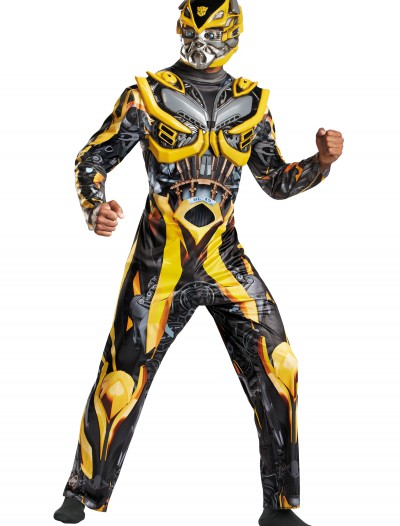 Adult Transformers 4 Deluxe Bumblebee Costume, halloween costume (Adult Transformers 4 Deluxe Bumblebee Costume)