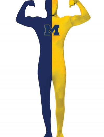 Adult University of Michigan Skin Suit, halloween costume (Adult University of Michigan Skin Suit)