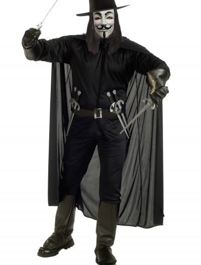 Adult V for Vendetta Costume, halloween costume (Adult V for Vendetta Costume)