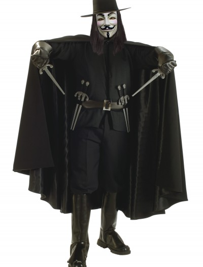 Adult V for Vendetta Grand Heritage Costume, halloween costume (Adult V for Vendetta Grand Heritage Costume)