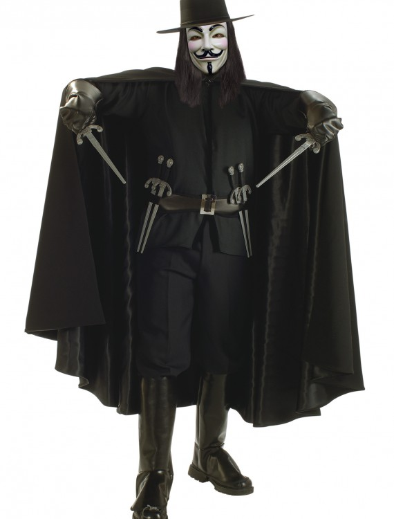 Adult V for Vendetta Grand Heritage Costume, halloween costume (Adult V for Vendetta Grand Heritage Costume)