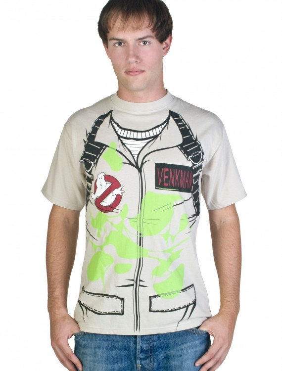 Adult Venkman Ghostbusters T-Shirt Costume, halloween costume (Adult Venkman Ghostbusters T-Shirt Costume)