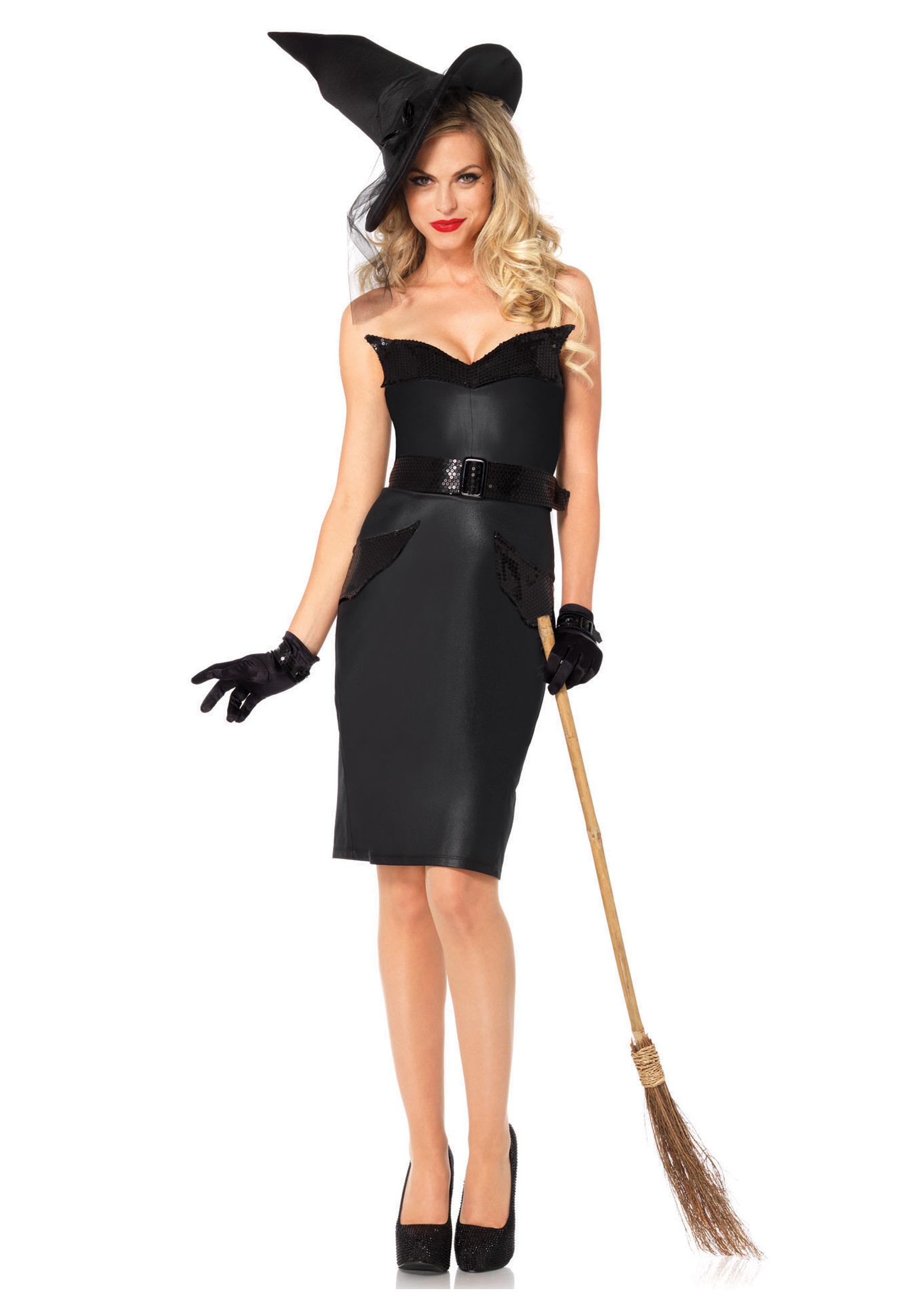 adult vintage witch costume - halloween costumes