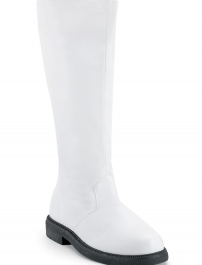 Adult White Costume Boots, halloween costume (Adult White Costume Boots)