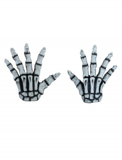Adult White Skeleton Hands, halloween costume (Adult White Skeleton Hands)