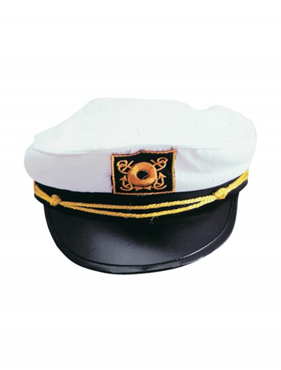 Adult White Yacht Cap, halloween costume (Adult White Yacht Cap)