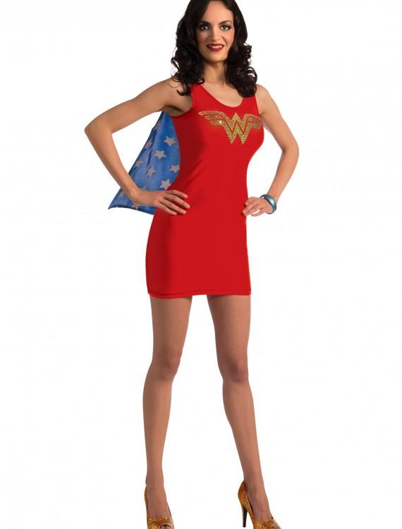 Adult Wonder Woman Tank Dress w/ Rhinestones, halloween costume (Adult Wonder Woman Tank Dress w/ Rhinestones)