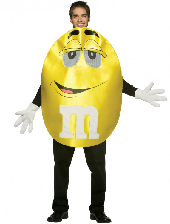 Adult Yellow M&M Costume, halloween costume (Adult Yellow M&M Costume)