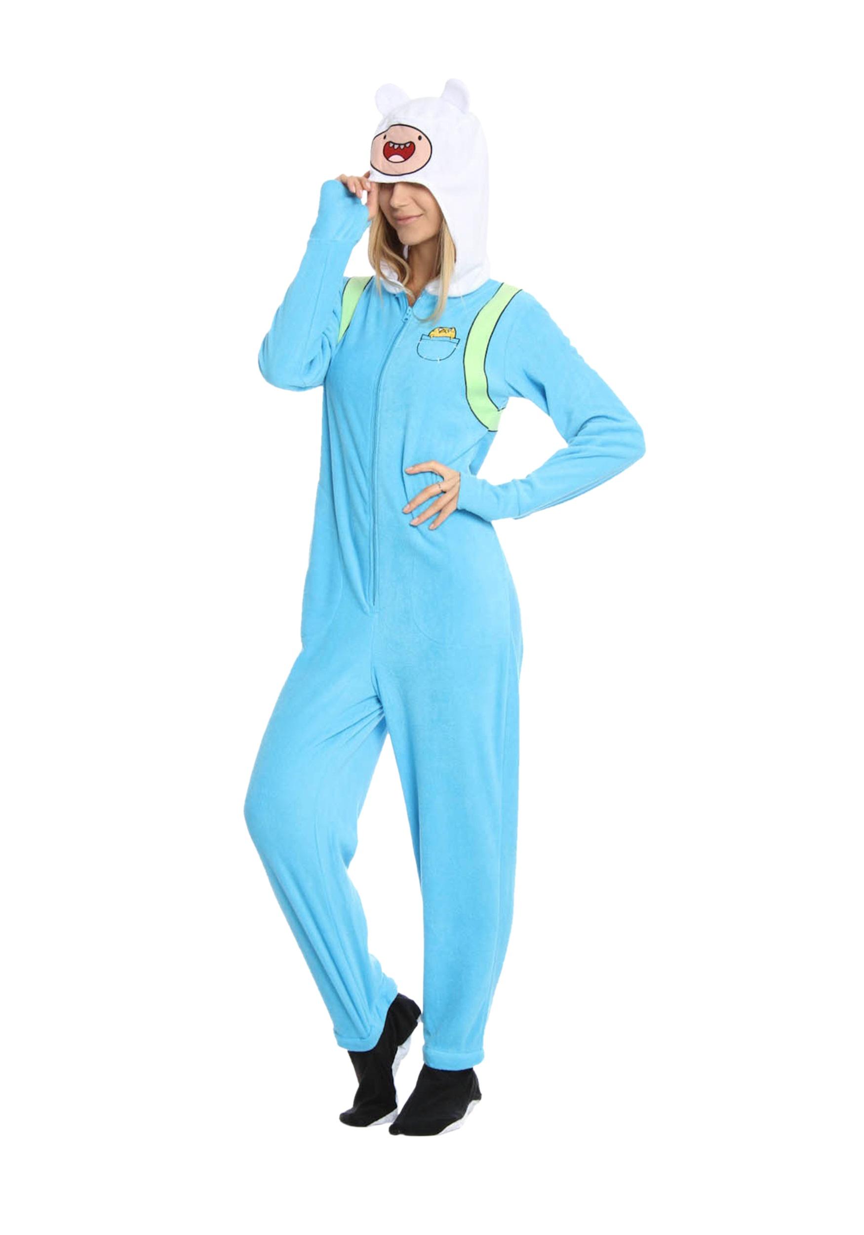 adventure time: adult finn pajamas - halloween costumes