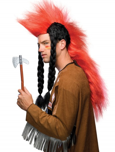 American Indian Mohawk Wig with Braids, halloween costume (American Indian Mohawk Wig with Braids)