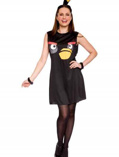 Angry Birds Adult Black Bird Tank Dress, halloween costume (Angry Birds Adult Black Bird Tank Dress)