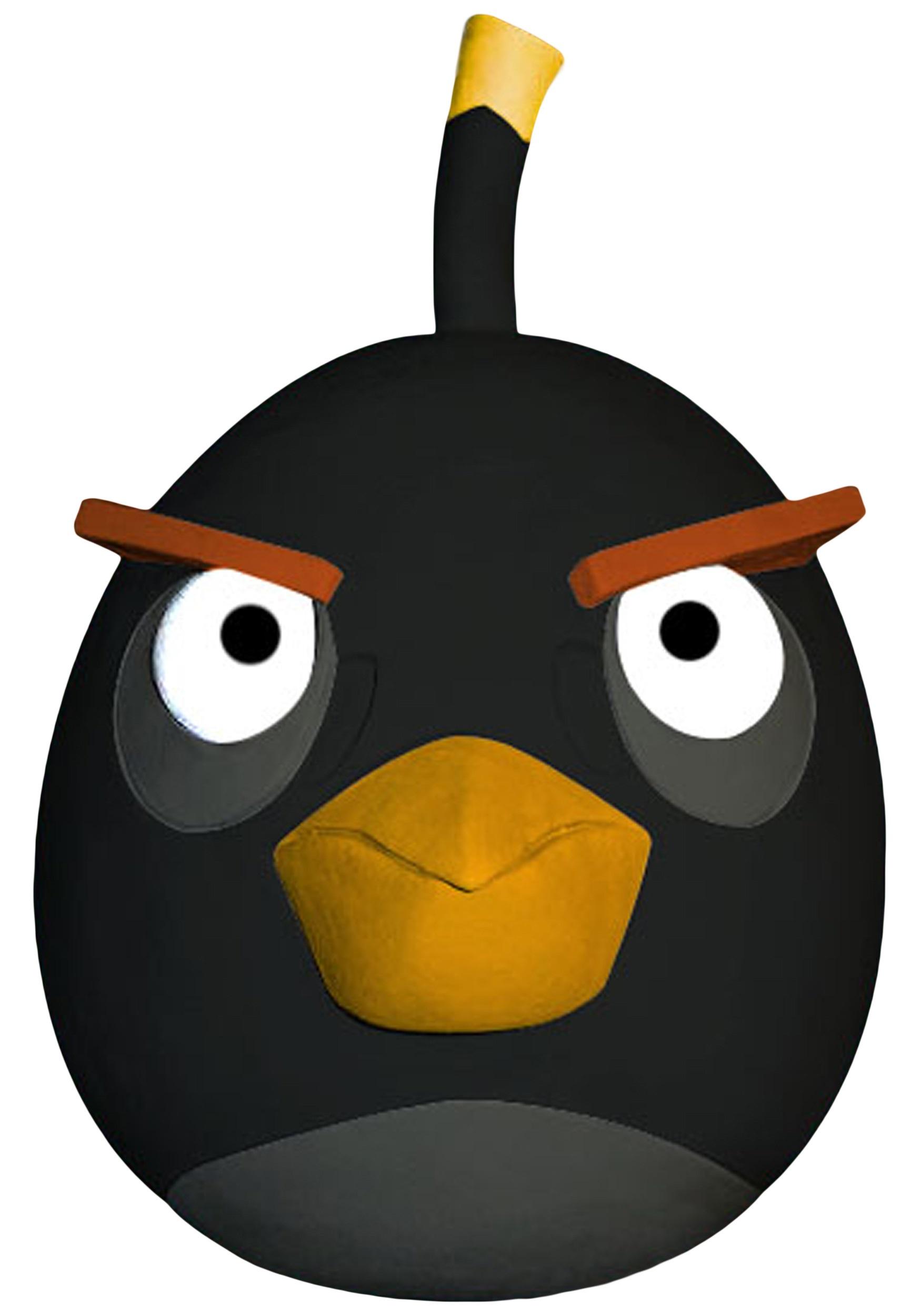 Angry Birds Black Bird Mask - Halloween Costumes