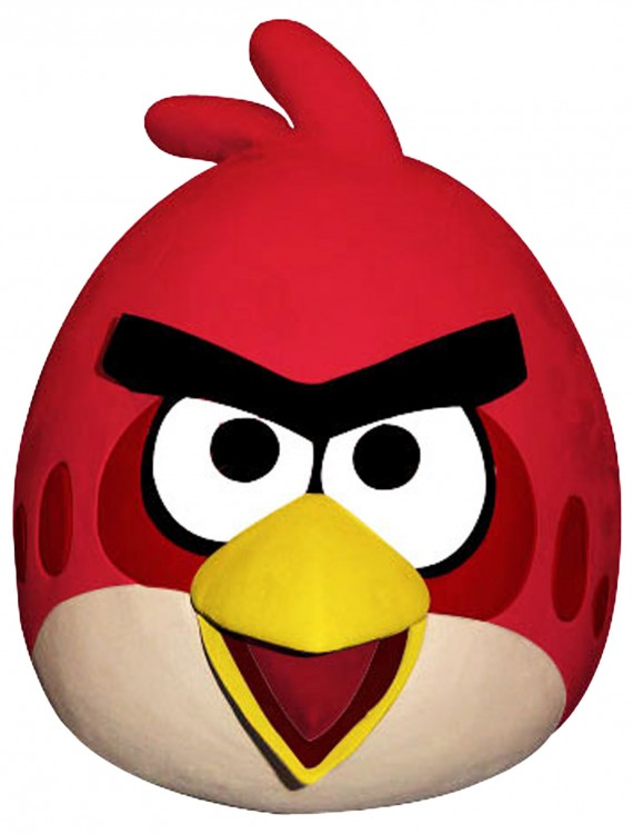 Angry Birds Red Bird Mask, halloween costume (Angry Birds Red Bird Mask)