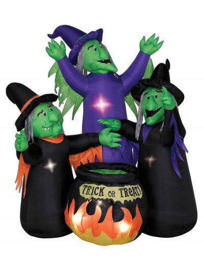 Animated Airblown Three Witches and Cauldron, halloween costume (Animated Airblown Three Witches and Cauldron)