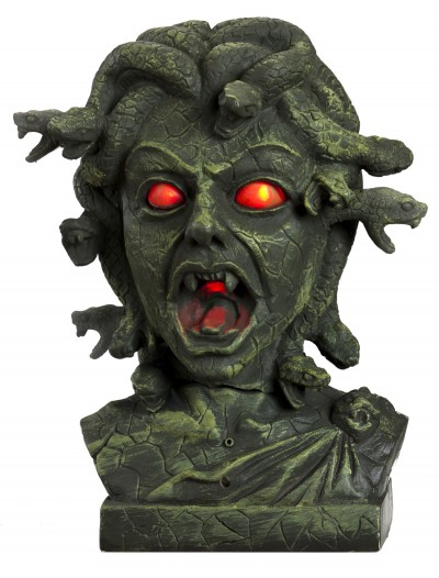 Animated Medusa Bust w/ Light Up Eyes, halloween costume (Animated Medusa Bust w/ Light Up Eyes)