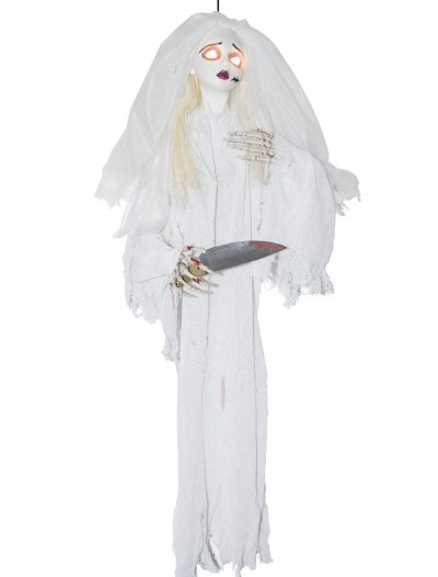 Animated Slashing Bride w/Knife, halloween costume (Animated Slashing Bride w/Knife)