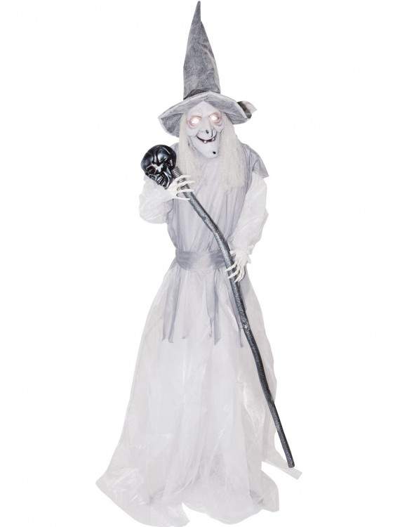 Animated Standing Ghostly Witch with Staff, halloween costume (Animated Standing Ghostly Witch with Staff)