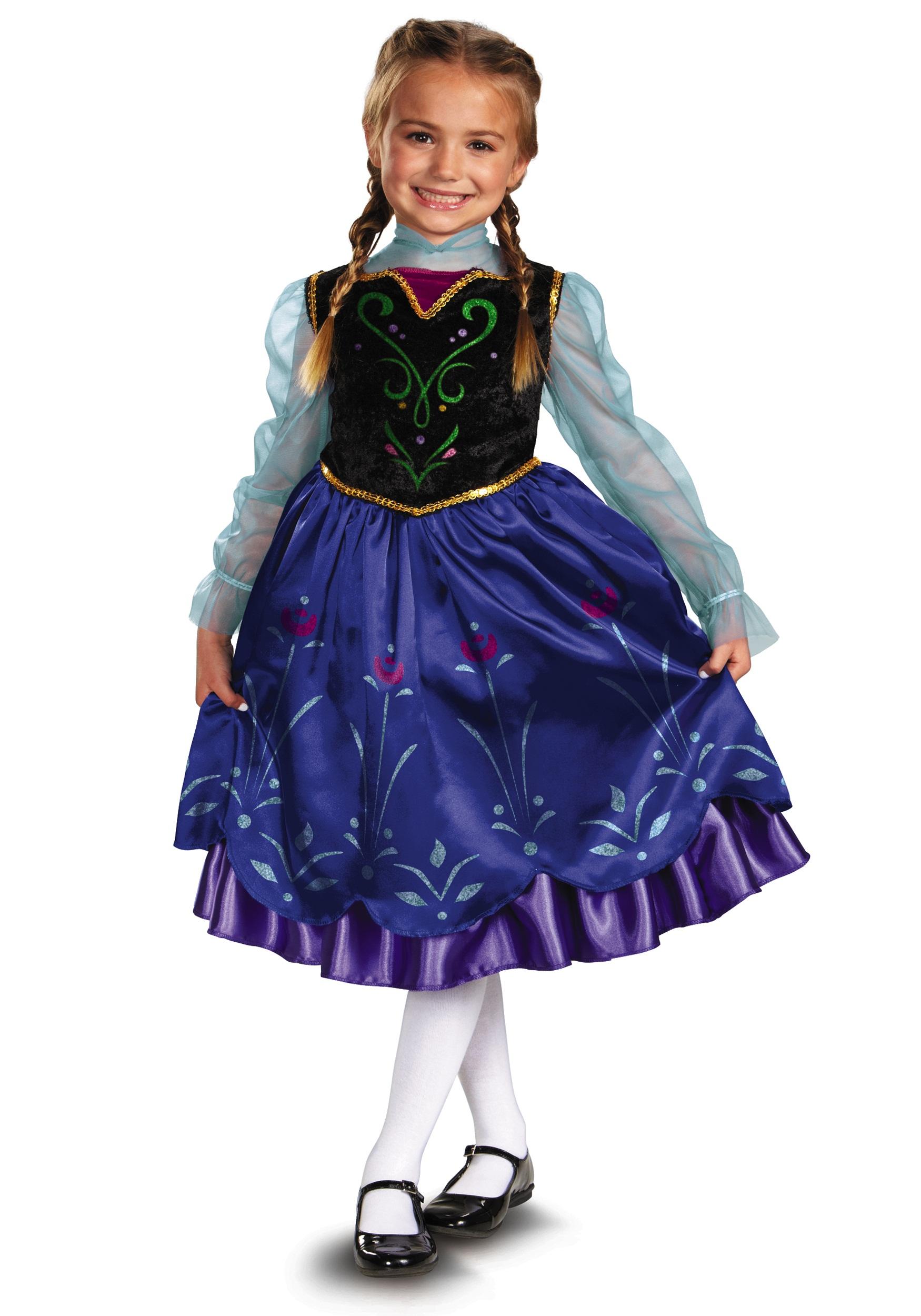 Anna Deluxe Frozen Costume  sc 1 st  Halloween Costumes & Anna Deluxe Frozen Costume - Halloween Costumes