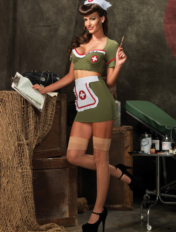 Army Nurse Adult Costume, halloween costume (Army Nurse Adult Costume)