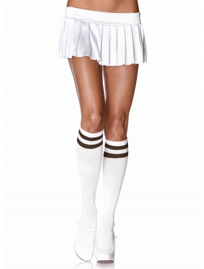 Athletic Knee High Stockings White/Black, halloween costume (Athletic Knee High Stockings White/Black)