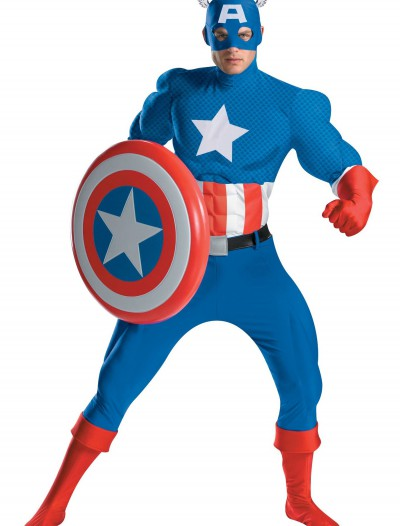 Authentic Captain America Costume, halloween costume (Authentic Captain America Costume)