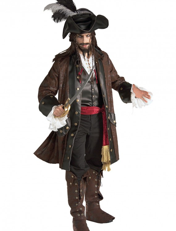 Authentic Caribbean Pirate Adult Costume, halloween costume (Authentic Caribbean Pirate Adult Costume)