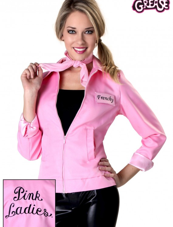 Authentic Grease Plus Size Pink Ladies Jacket, halloween costume (Authentic Grease Plus Size Pink Ladies Jacket)