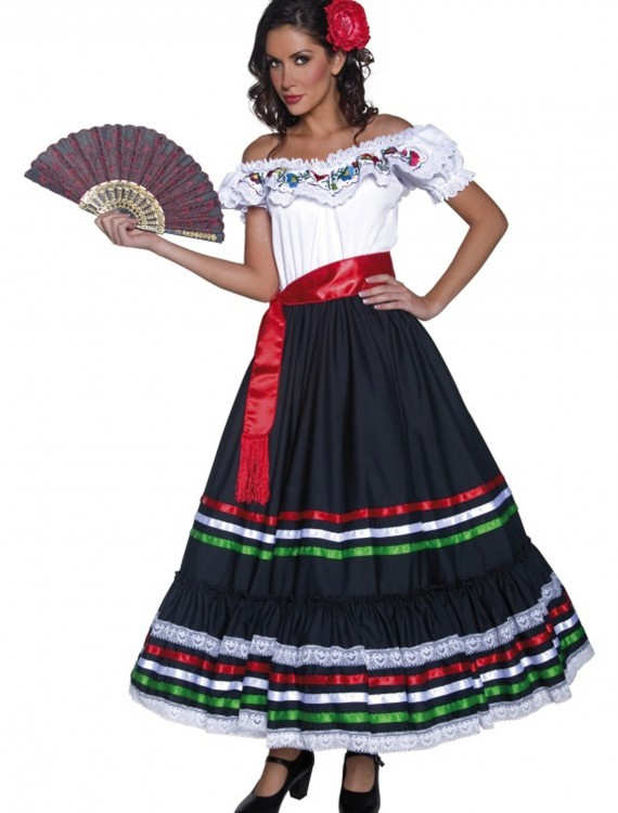 Authentic Western Senorita Costume, halloween costume (Authentic Western Senorita Costume)