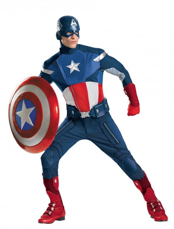Avengers Replica Captain America Costume, halloween costume (Avengers Replica Captain America Costume)