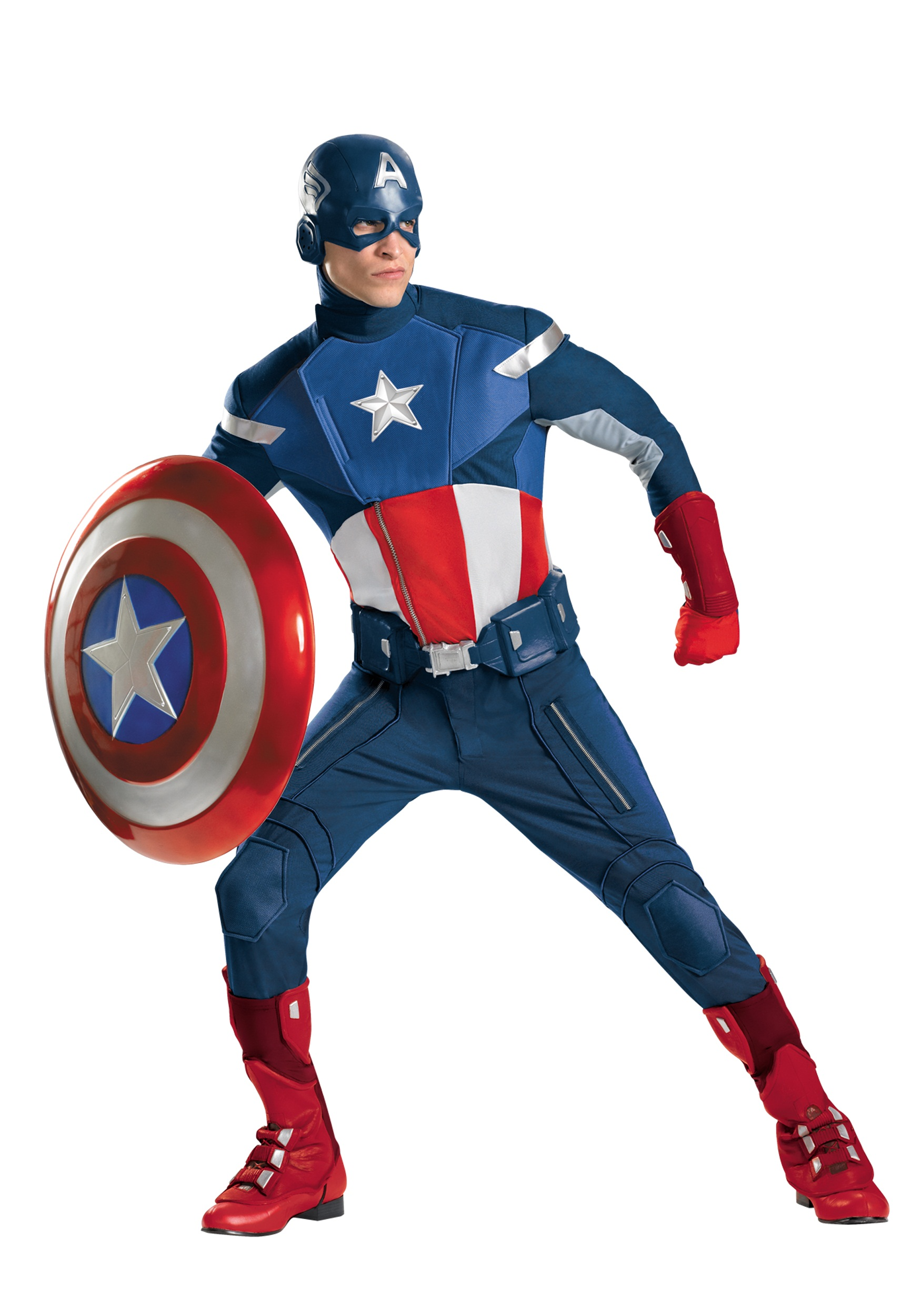avengers replica captain america costume - halloween costumes