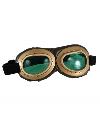 Gold Aviator Goggles, halloween costume (Gold Aviator Goggles)