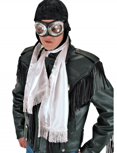 White Aviator Scarf, halloween costume (White Aviator Scarf)