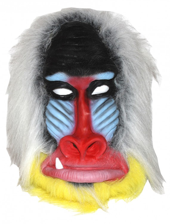 Baboon Latex Mask, halloween costume (Baboon Latex Mask)