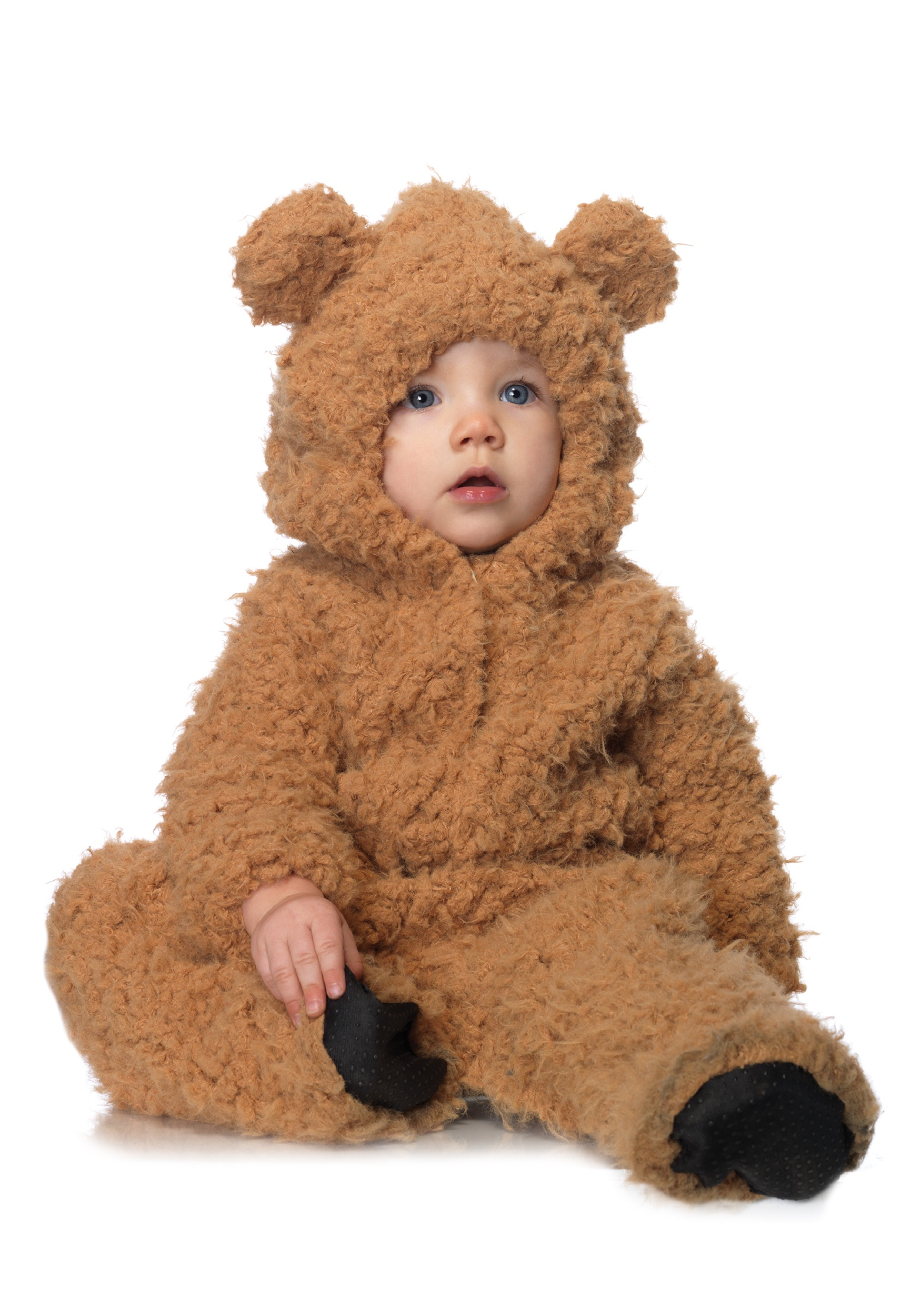 -Baby boy adorable sweat suit with bear hoodie-Features a cute bear face and ears on the hoodie-Comes in three color combinations: blue and navy, khaki .