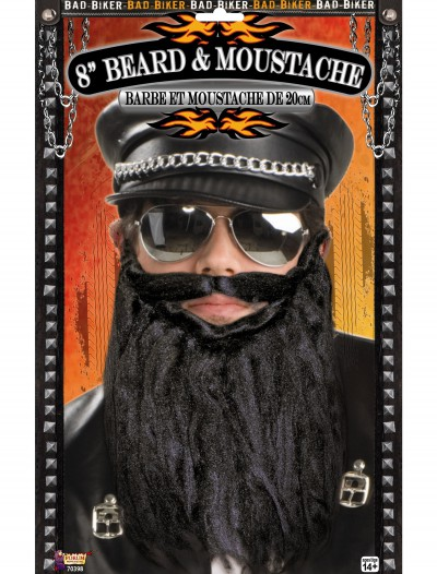 Bad Biker Beard and Moustache, halloween costume (Bad Biker Beard and Moustache)