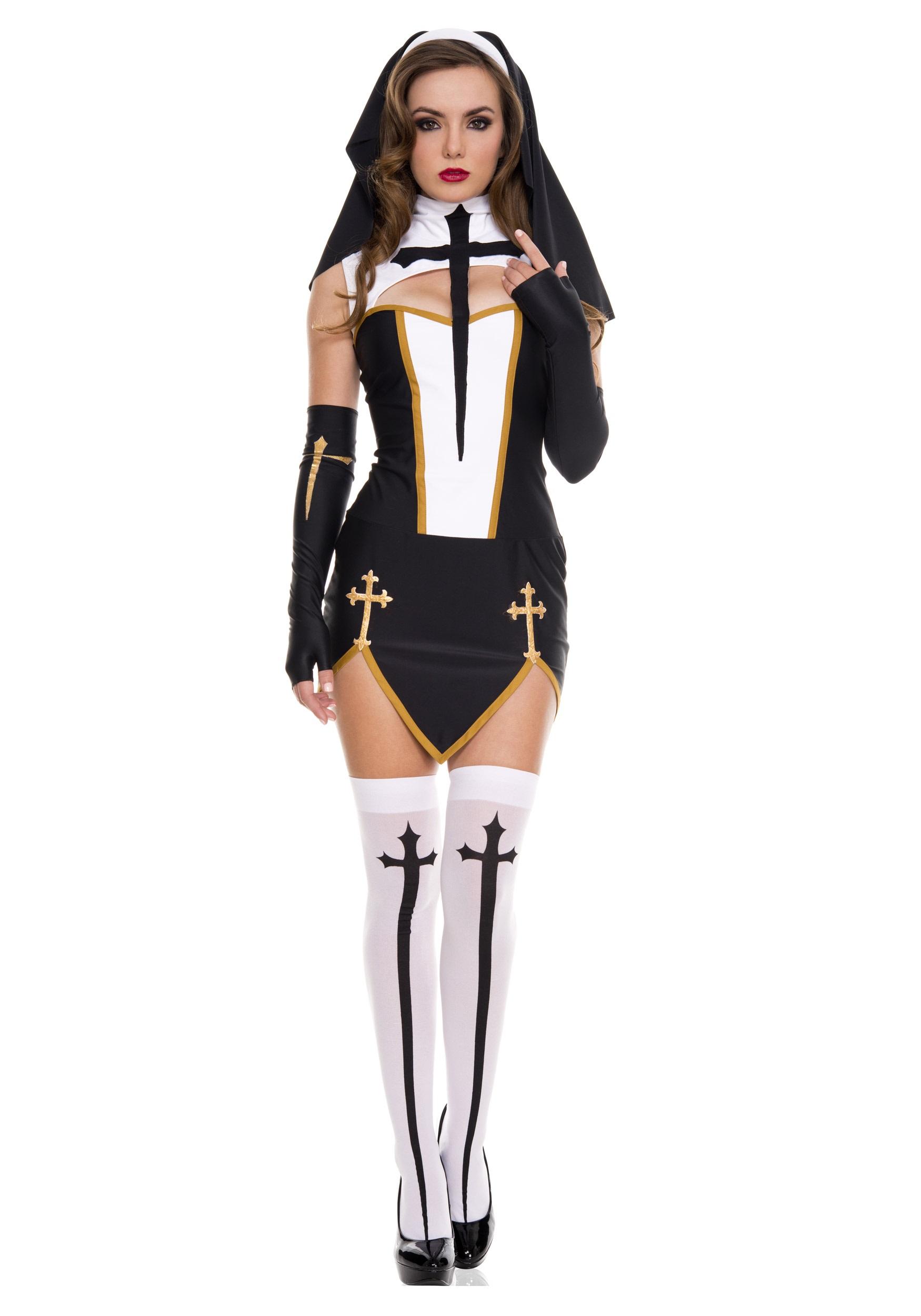 Bad Habit Nun Costume - Halloween Costumes
