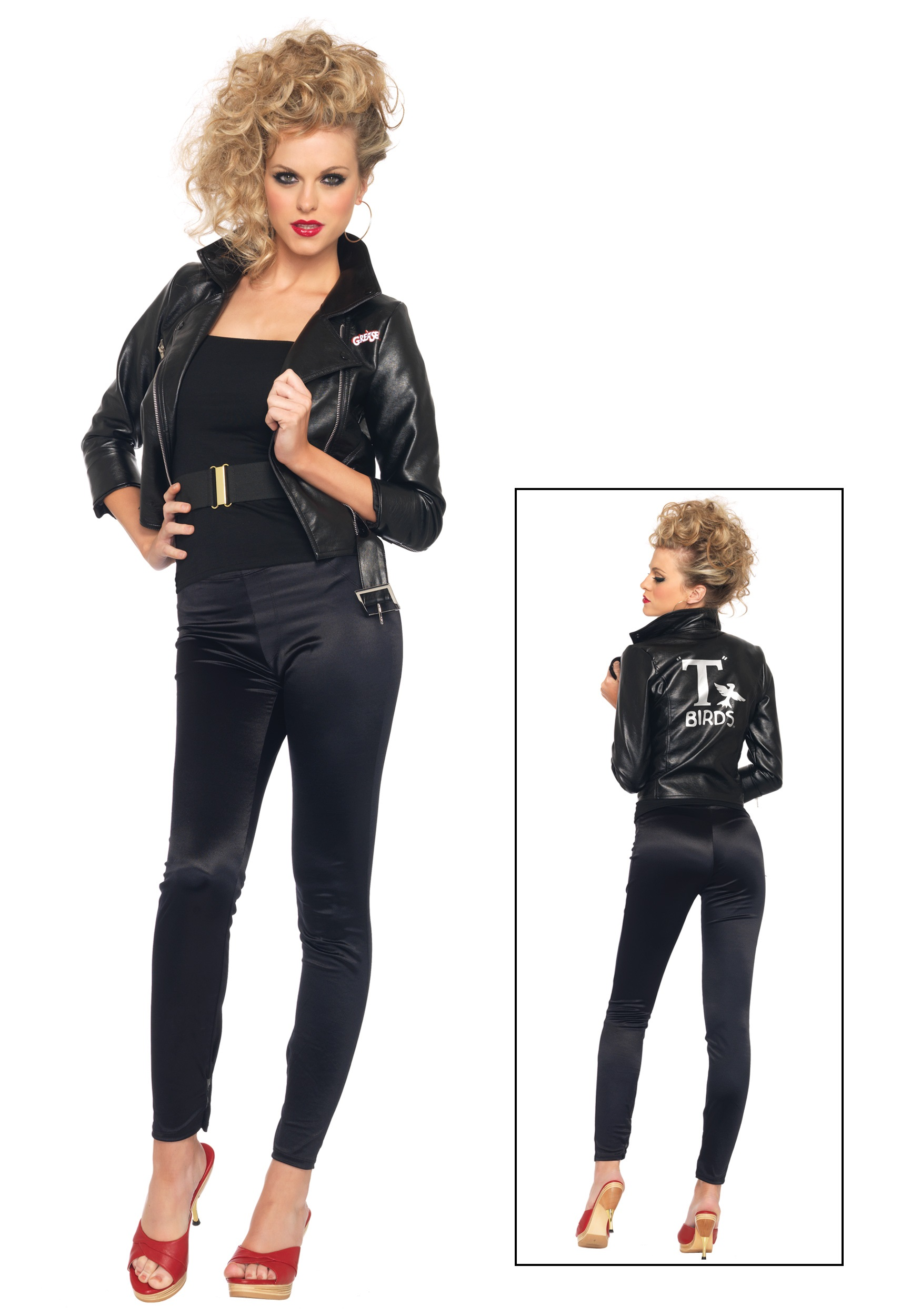 Back to20u0027s Costumes 50u0027s Costumes Adult Costumes Grease Costumes Paramount Pictures Costumes Theme Costumes TV / Movie Costumes Womenu0027s Costumes  sc 1 st  Halloween Costumes & Bad Sandy Jacket - Halloween Costumes