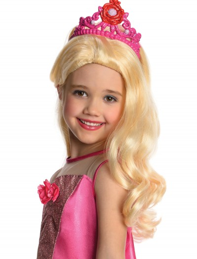 Barbie Wig with Tiara, halloween costume (Barbie Wig with Tiara)