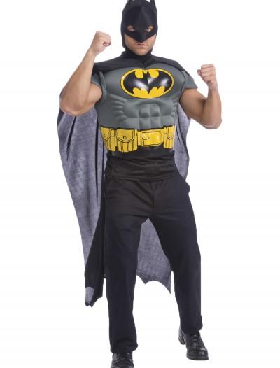 Batman Adult Muscle Chest Shirt, halloween costume (Batman Adult Muscle Chest Shirt)