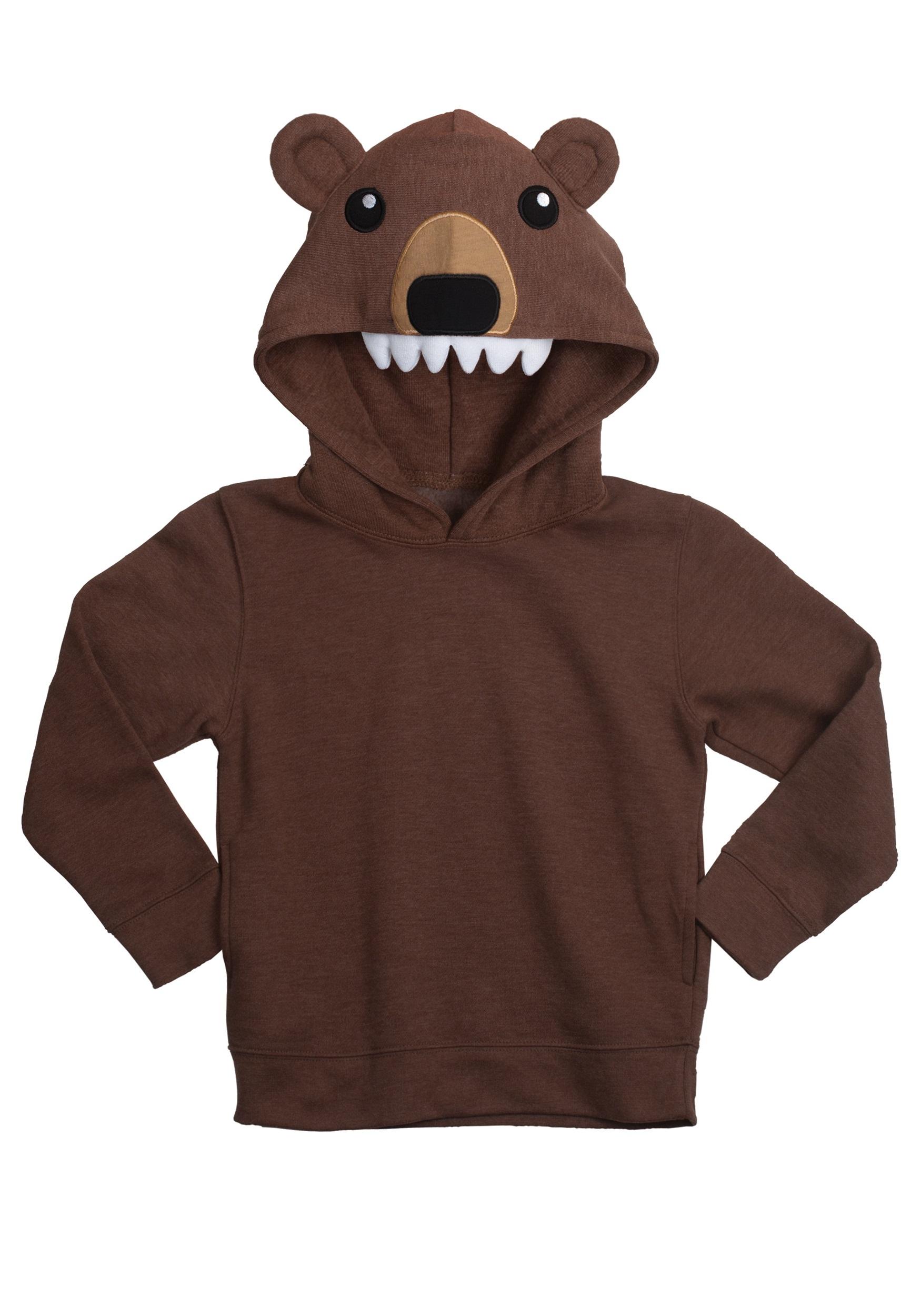bear face animal hoodie - halloween costumes